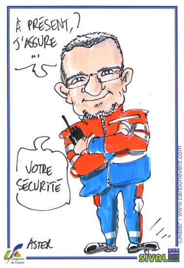 dessin en direct au salon  internationnal